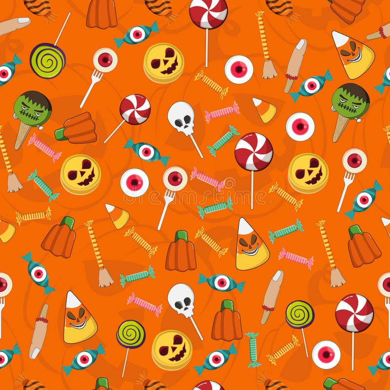 Halloween Sweet colorful Candy Seamless Pattern royalty free illustration