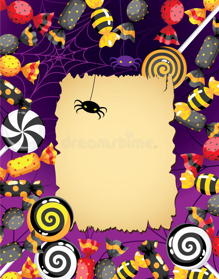 Halloween Sweets Card Royalty Free Stock Photo