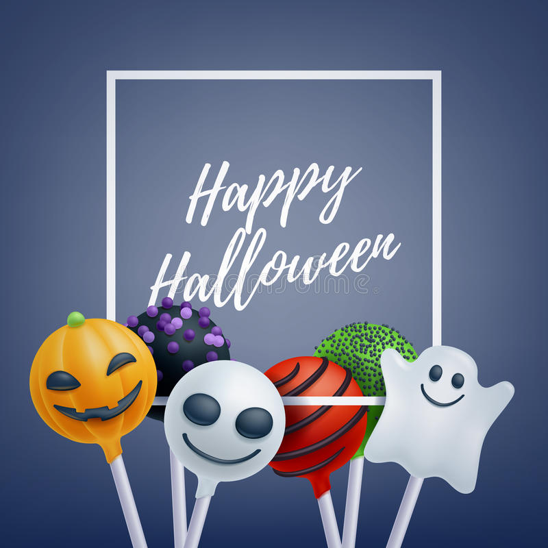 Halloween sweets colorful party background stock vector halloween sweets colorful party background lollipop candy cake pops good for holiday design halloween greetings m4hsunfo