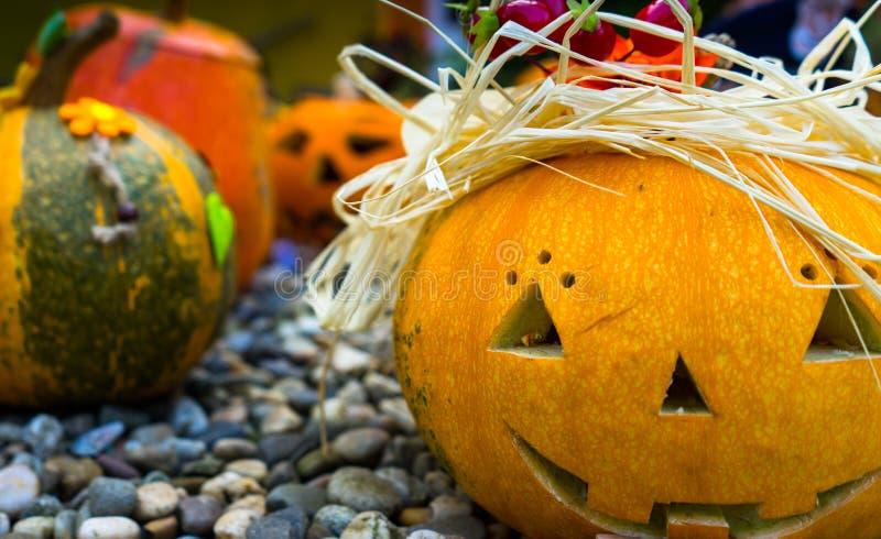 halloween symbol sniden halloween pumpa royaltyfria bilder