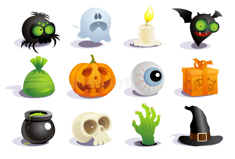 Halloween-Symbole. lizenzfreie abbildung
