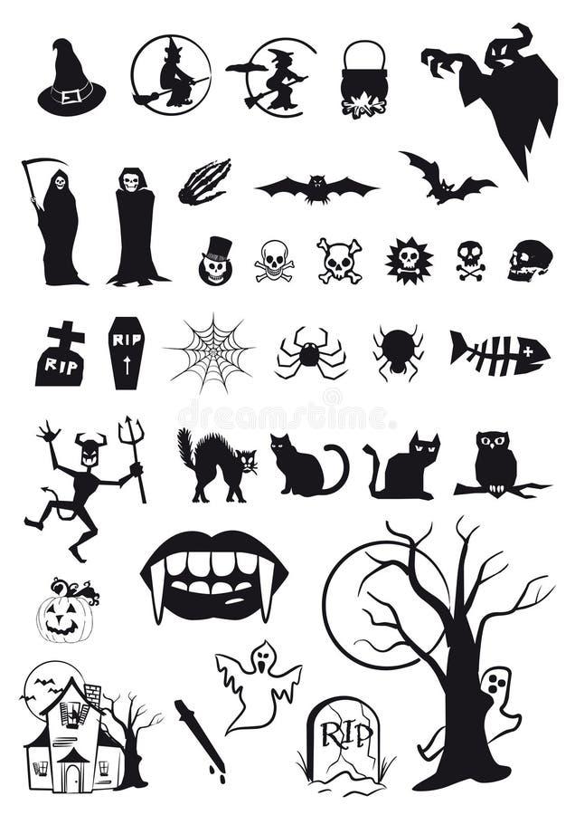 Halloween symbols stock vector. Illustration of mouth - 21619637