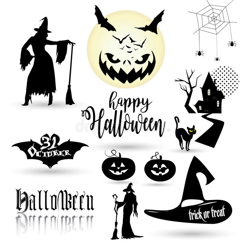 Download Halloween symbols stock vector. Illustration of holiday - 79416373