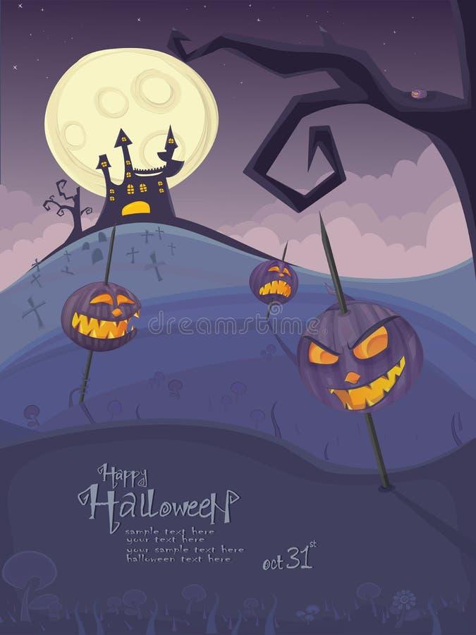 halloween szablonu wektor ilustracja wektor