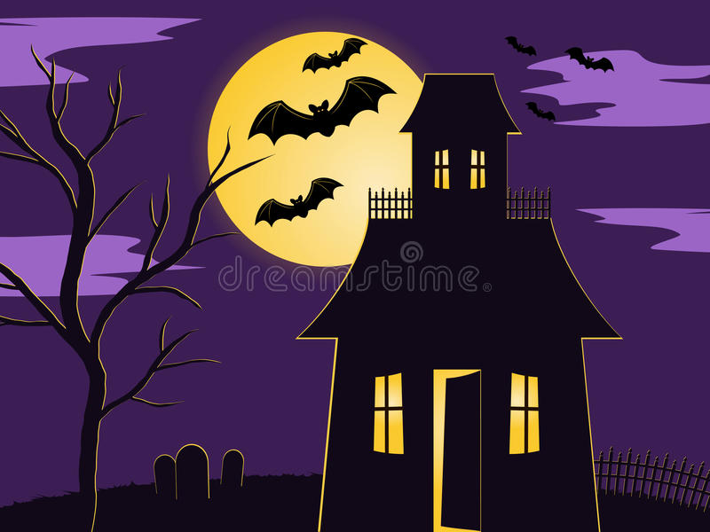 Halloween-Szene vektor abbildung