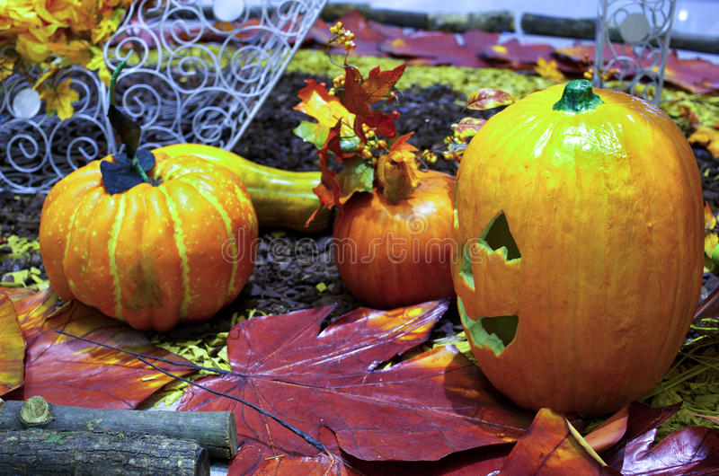Halloween-Szene lizenzfreie stockfotos