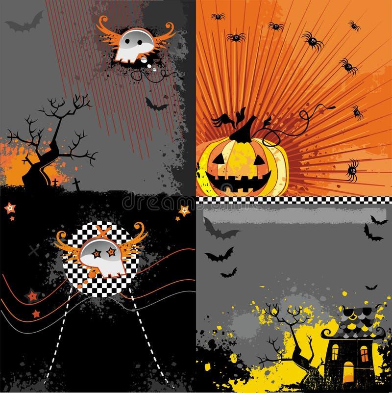 Halloween tła zestaw ilustracja wektor