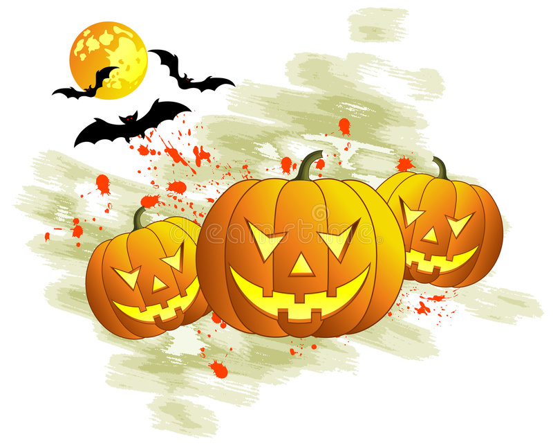 Halloween tło ilustracji