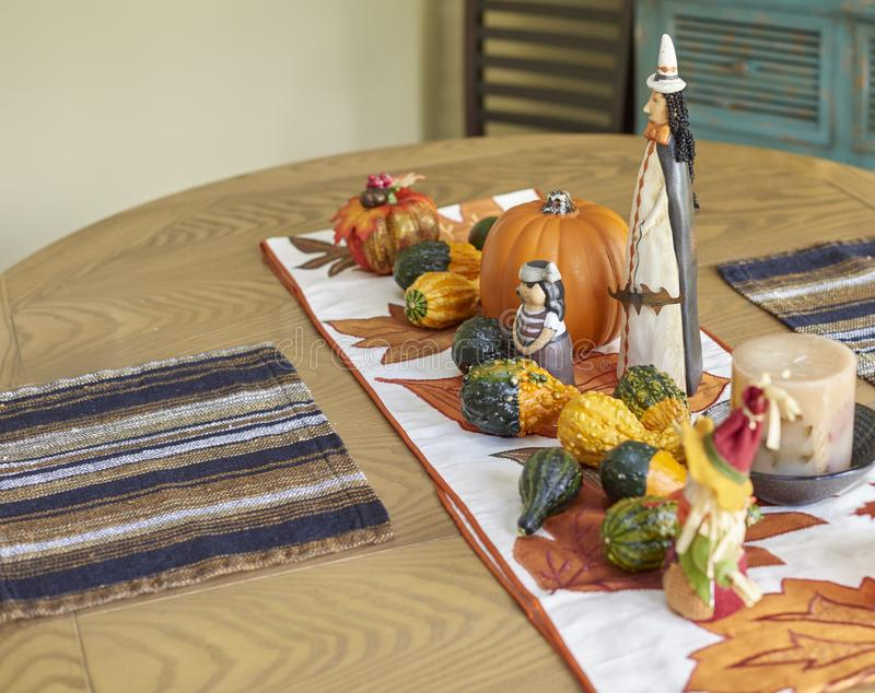 Halloween table decor stock photos