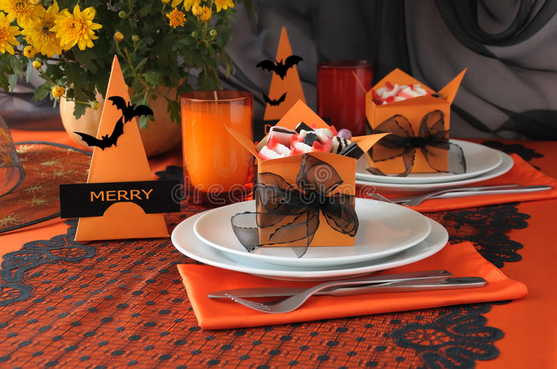 halloween tableware obrazy royalty free
