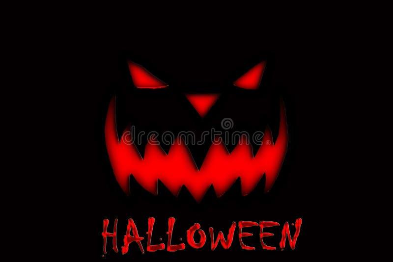 Halloween-Tag mit Kürbisteufel auf dem schwarzen Hintergrund lizenzfreies stockfoto