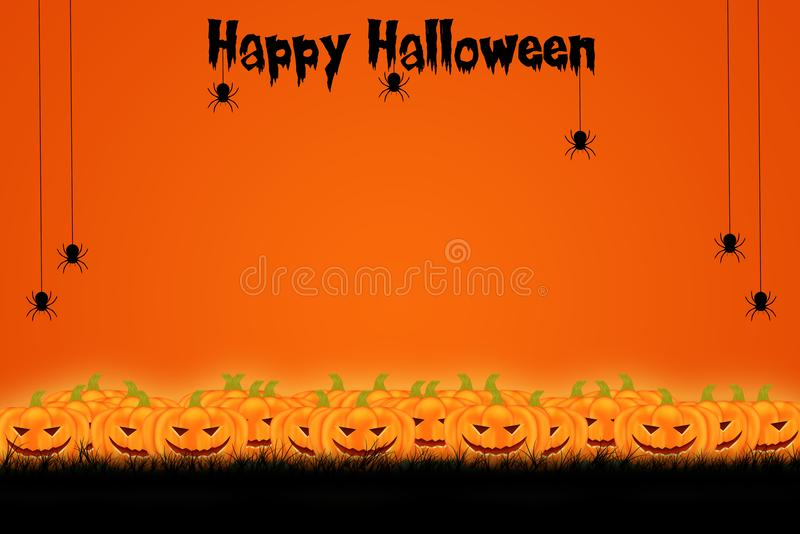 Halloween template design with space for text or message stock image
