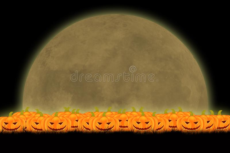 Halloween template design with space for text or message royalty free stock images