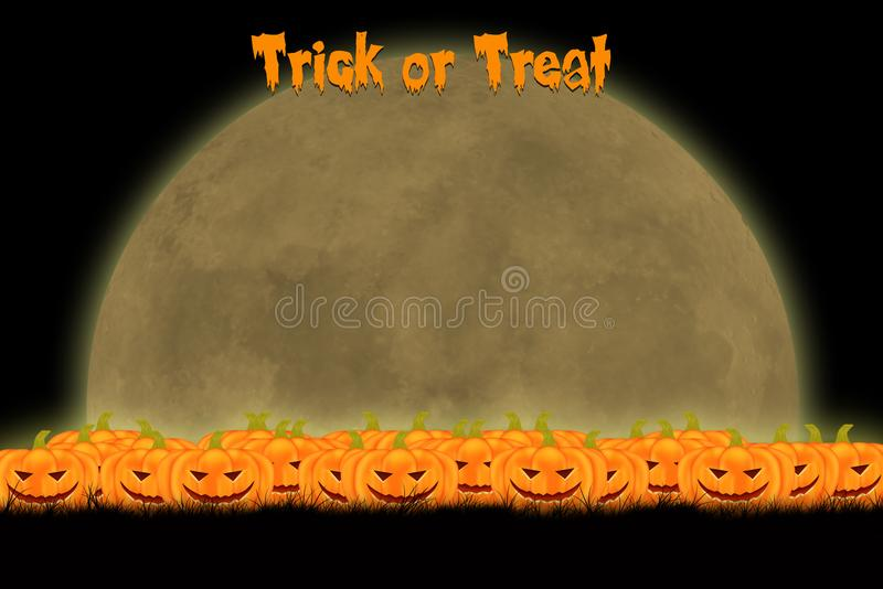 Halloween template design with space for text or message royalty free stock image