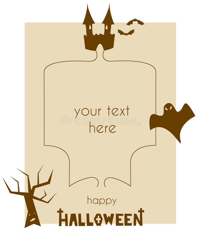 Halloween Template For Letters And Cards royalty free stock image