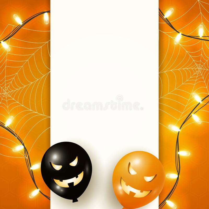 Halloween template or poster for your arts with copy space stock illustration