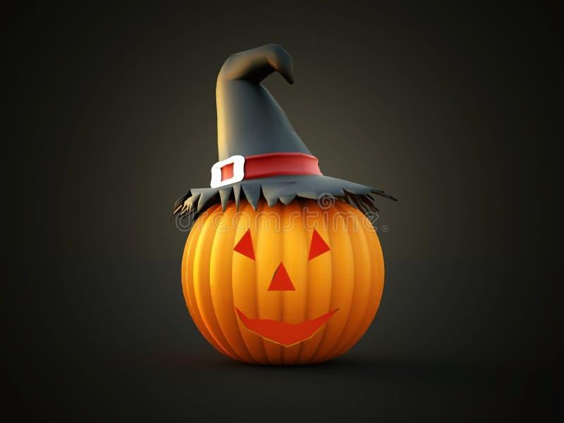 Halloween-teruggegeven pompoenen vector illustratie