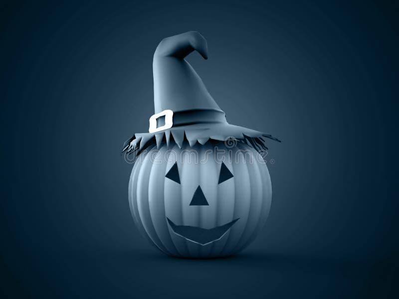Halloween-teruggegeven pompoenen royalty-vrije illustratie