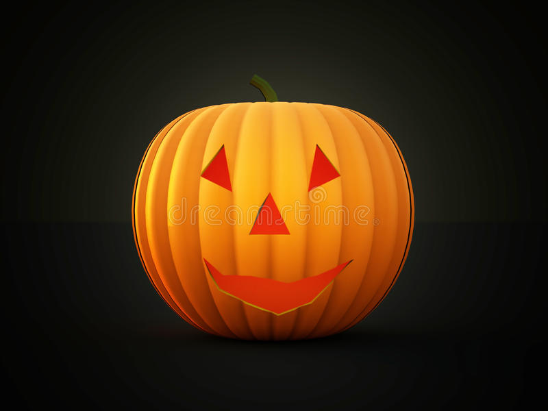 Halloween-teruggegeven pompoenen stock illustratie