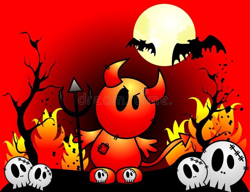 Halloween-Teufelvektor lizenzfreie abbildung