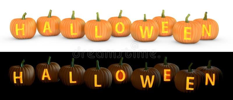Download Halloween Text Carved On Pumpkin Jack Lantern Stock Illustration - Image: 26312689