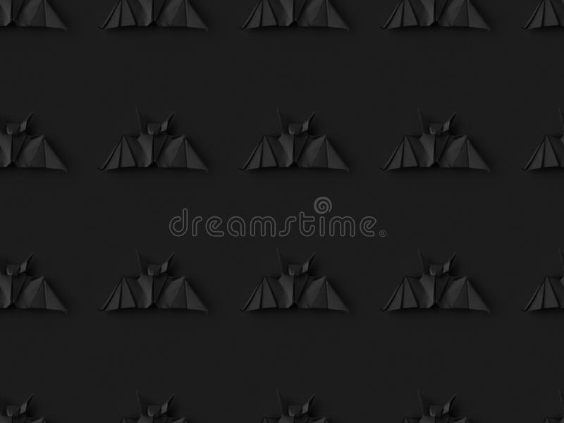 halloween texture with origami bats royalty free stock images