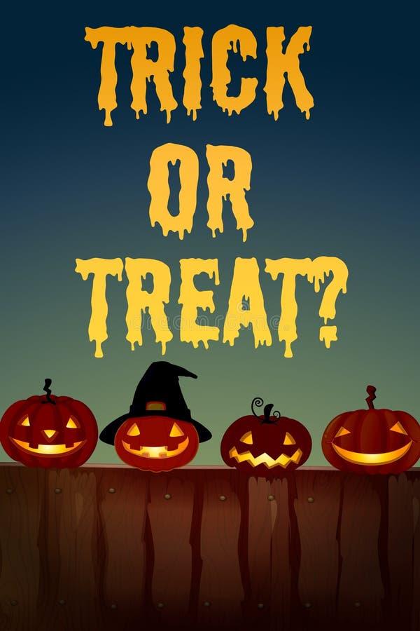 Halloween-thema met hefboom-o-lantaarn vector illustratie