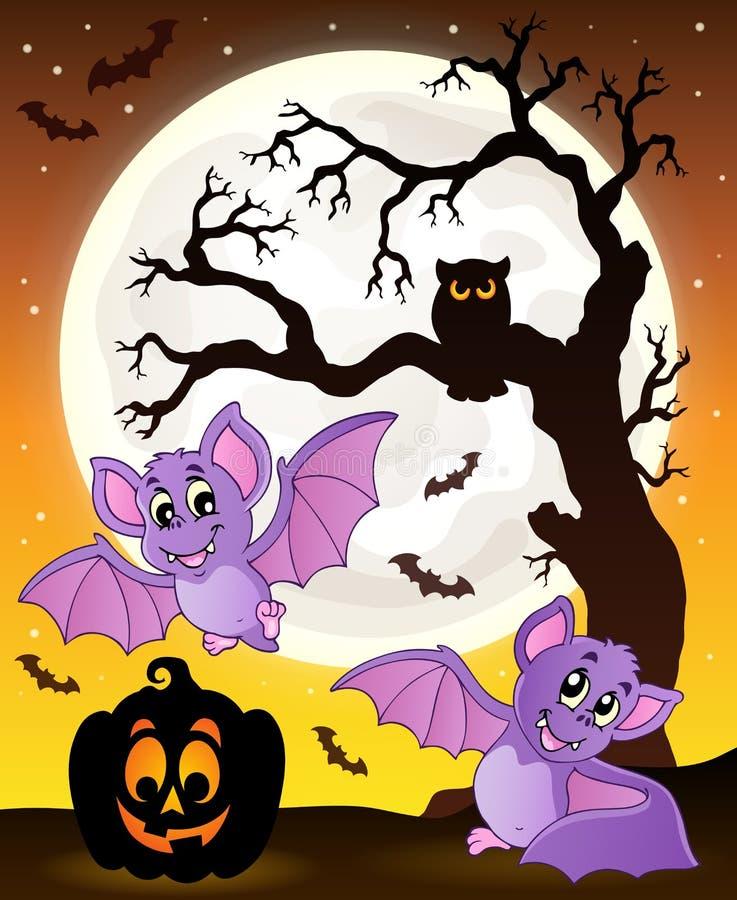 Halloween-thema met knuppels 1 stock illustratie