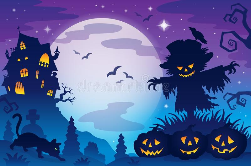 Halloween-themabeeld 8 stock illustratie