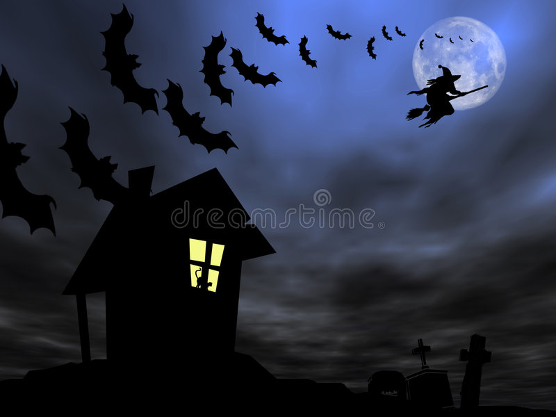 Halloween theme stock image