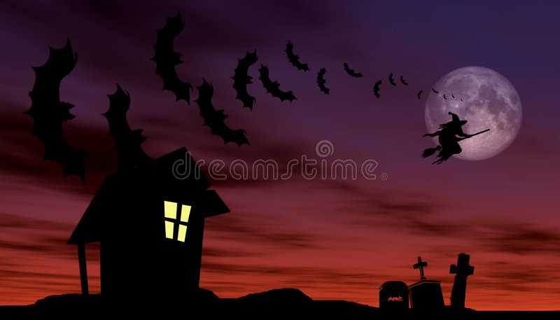 Halloween theme royalty free illustration