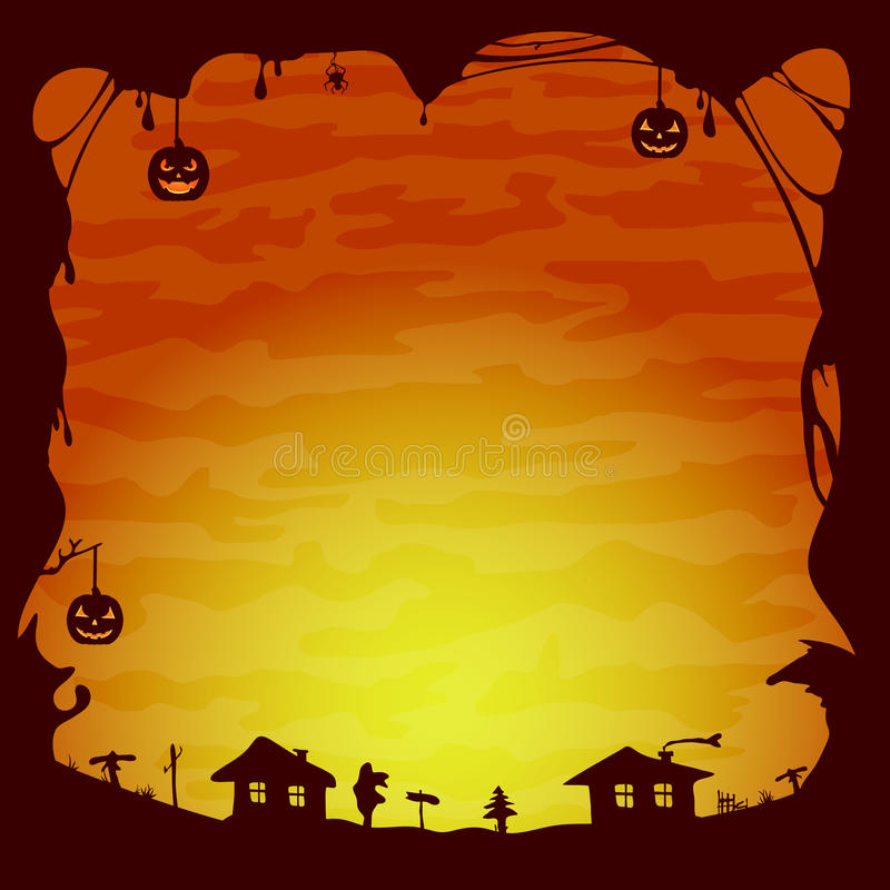 Halloween theme stock vector. Image of design, cobweb - 43944352