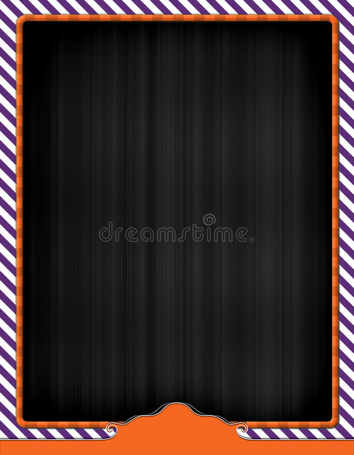 Halloween Themed Flyer Background. Blank Flyer Design Template for ad or promo stock image