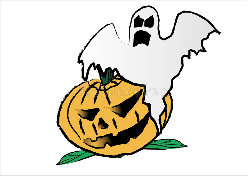 halloween tid stock illustrationer