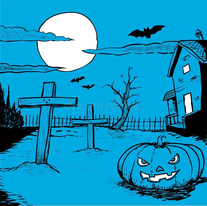 Halloween tiré par la main - illustration de vecteur illustration libre de droits