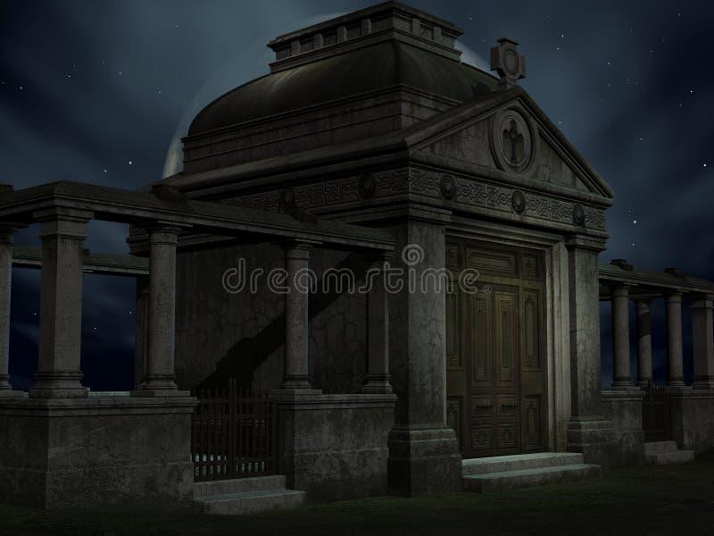 Halloween Tomb. 3D Render of an Halloween Tomb vector illustration