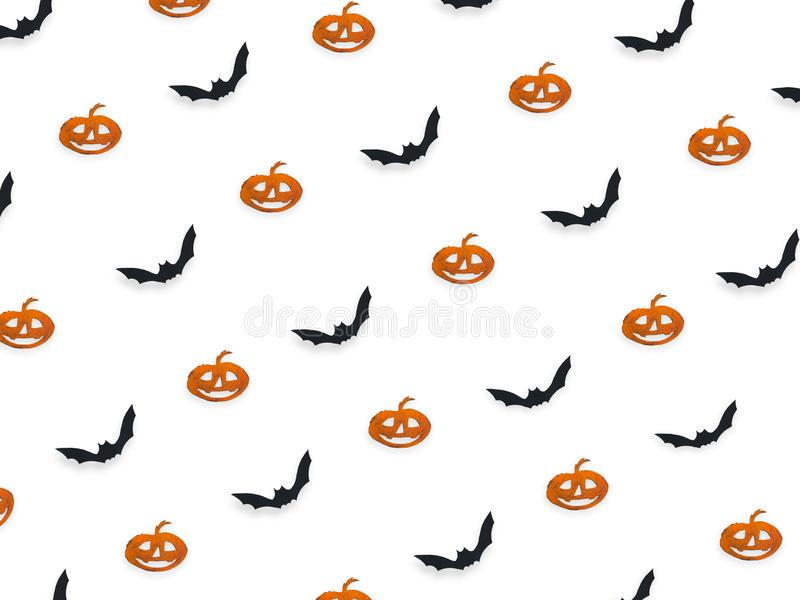 Halloween top view decorative mock up isolated on white. stock photos