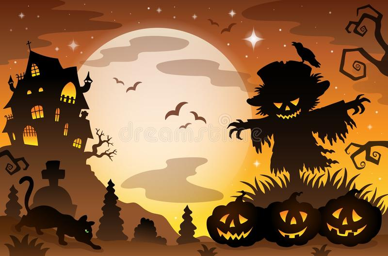 Halloween topic scene 3 vector illustration
