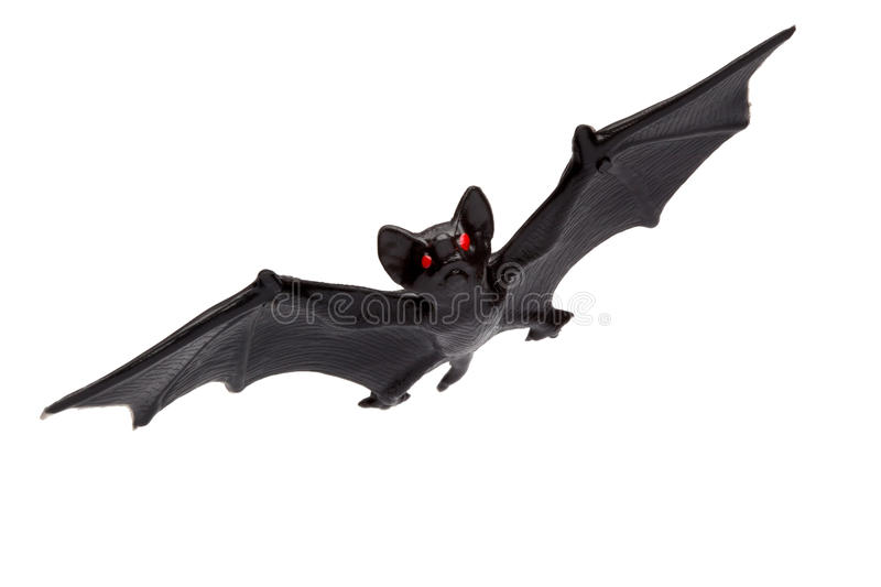 Halloween - Toy Bat - Isolated on White Background royalty free stock images