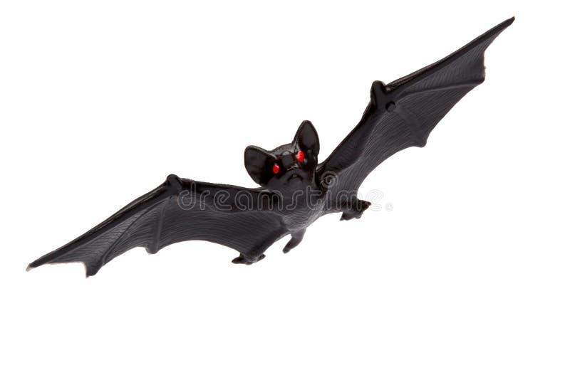 Halloween - Toy Bat - lokalisiert auf weißem Hintergrund lizenzfreie stockbilder