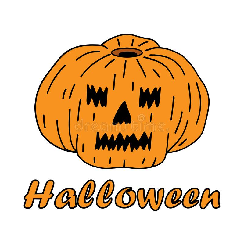 Halloween. The traditional image of a pumpkin. royalty free illustration