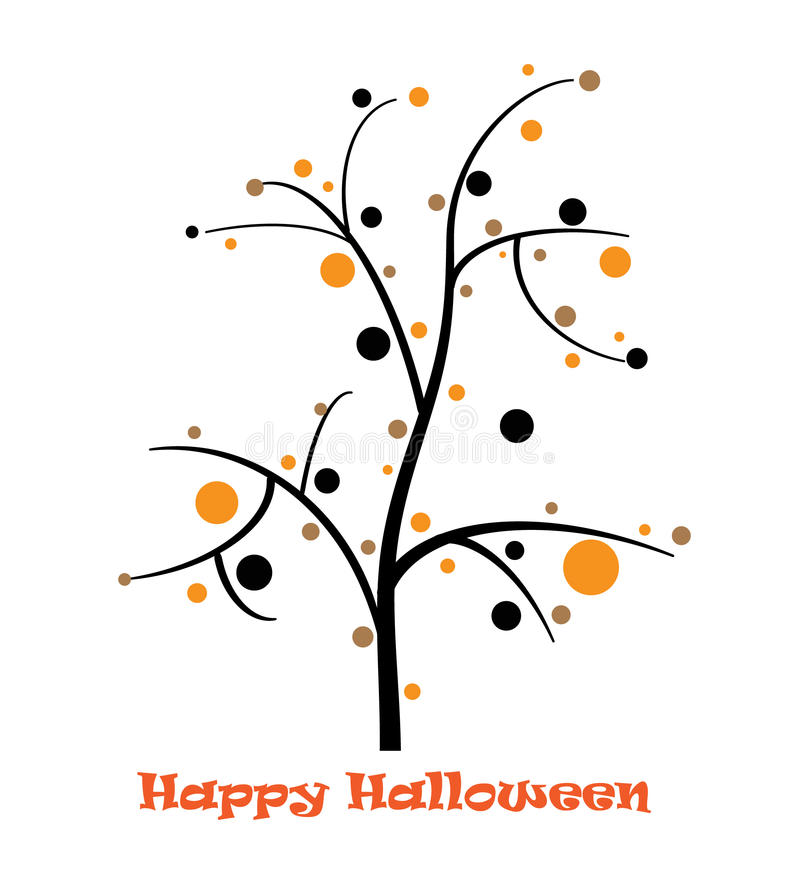 Halloween Tree stock illustration