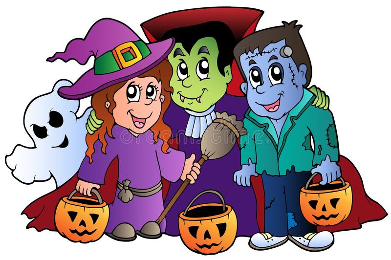 Download Halloween Trick Or Treat Characters Royalty Free Stock Images - Image: 20285609
