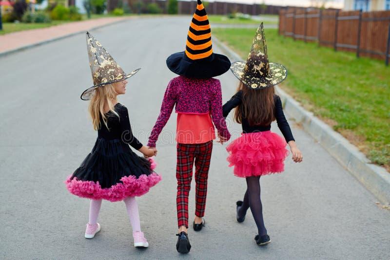 Halloween tricks royalty free stock photos