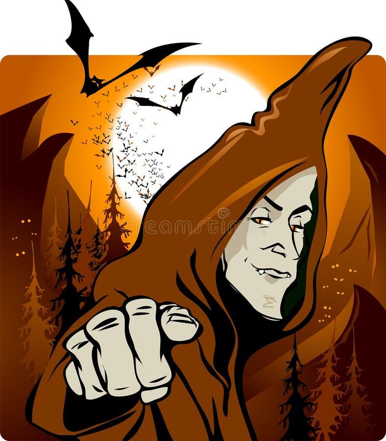 halloween trollkarl vektor illustrationer
