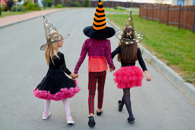 Halloween-trucs royalty-vrije stock foto's