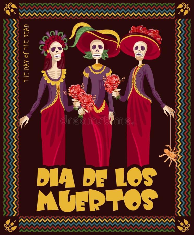 Halloween Truque ou deleite Dia dos mortos ilustração royalty free