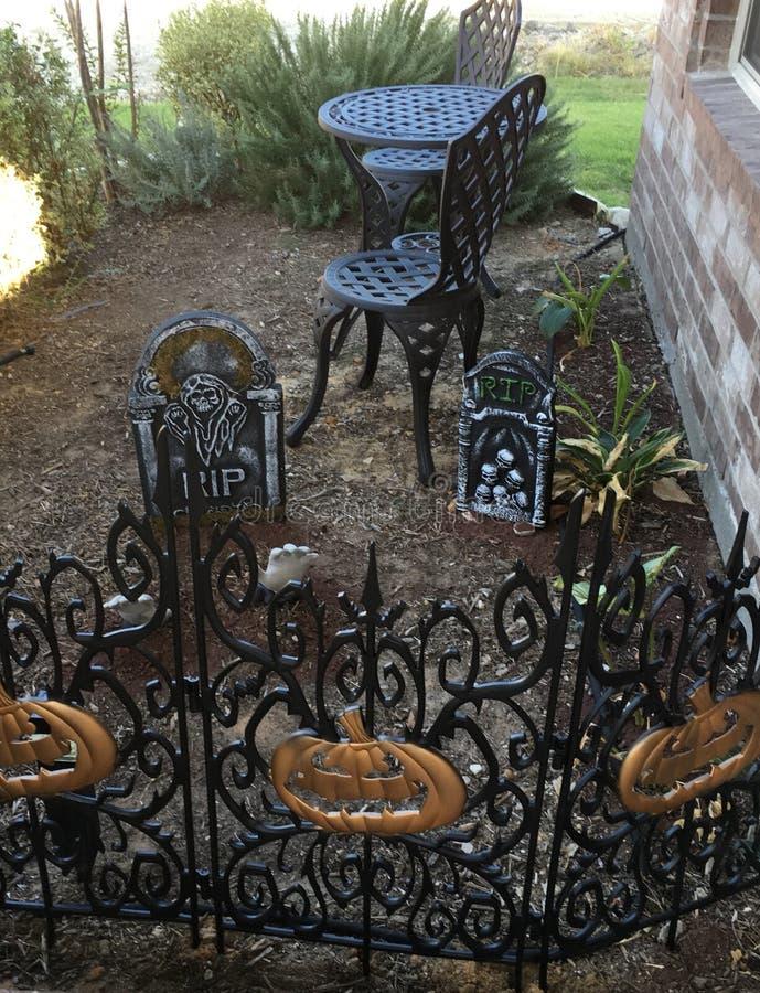 Halloween-tuin royalty-vrije stock afbeelding