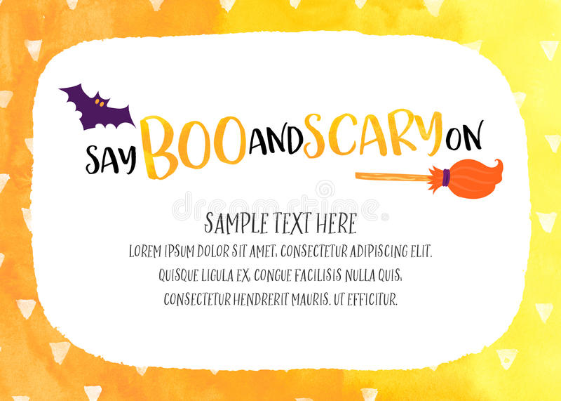 Halloween-uitnodigingsmalplaatje vector illustratie