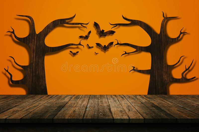 Halloween-vakantieconcept Lege plank royalty-vrije stock foto's